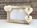 Shabby personalised Chic Photo Frame In Memory Of A Brother Or Any Name Friend